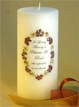 Autumn - Fall Elegance Swarovski Crystal Memorial Candle