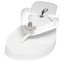 Camellia - Bridal Flip Flops - Wedge Heel - 60 Colors