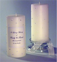 Clear Swarovski Crystal Memorial Candle
