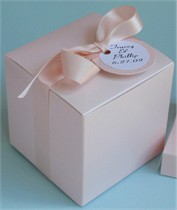 Cupcake Box with Ribbon & Matching Personalized Tag - Set of 10