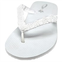 Mary - Bridal Flip Flops - Flat Heel - 60 Colors