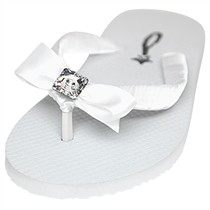 Princess - Swarovski Crystal Bridal Flip Flops - Flat Heel - 60 Colors