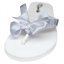 Kate - Flower Girl Flip Flops - 60 Ribbon Colors
