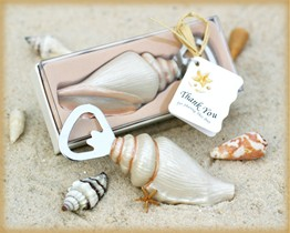 Beach Wedding Favor -  Shore Memories Sea Shell Bottle Opener