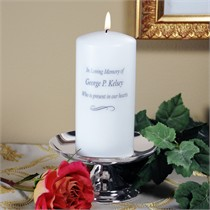 Personalized Memorial Candle and Stand