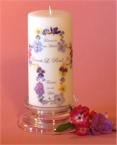 Wildflower Cross Memorial Candle