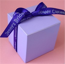 Personalized Ribbon Cupcake Box