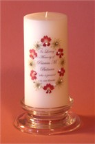 Queen Anne Red Swarovski Crystal Memorial Candle