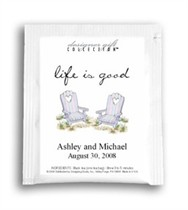 Tea Wedding Favor - Life Is Good - Beach Chairs
