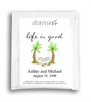 Tea Wedding Favor - Life Is Good - Palm Trees