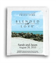 Tea Wedding Favor - Blended With Love - Sandy Beach Photo