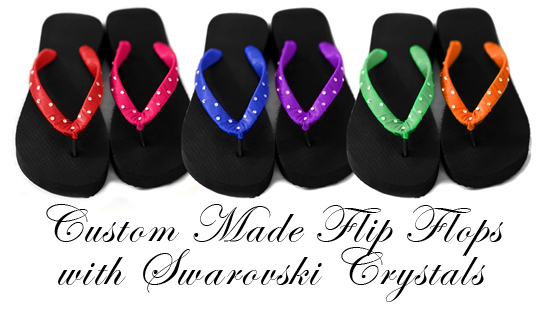 Bridal Flip Flop Custom Designs