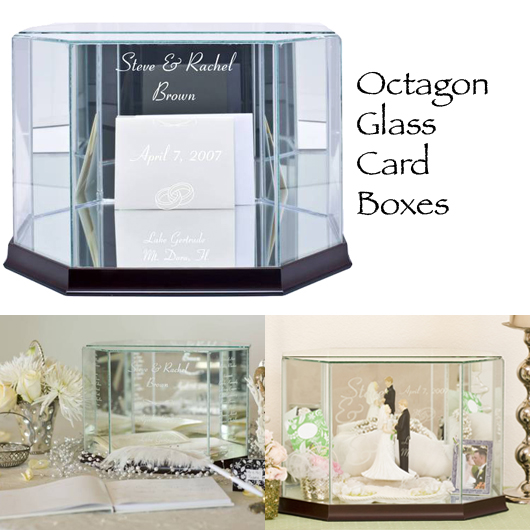 Octagon Wedding Gift Card Box